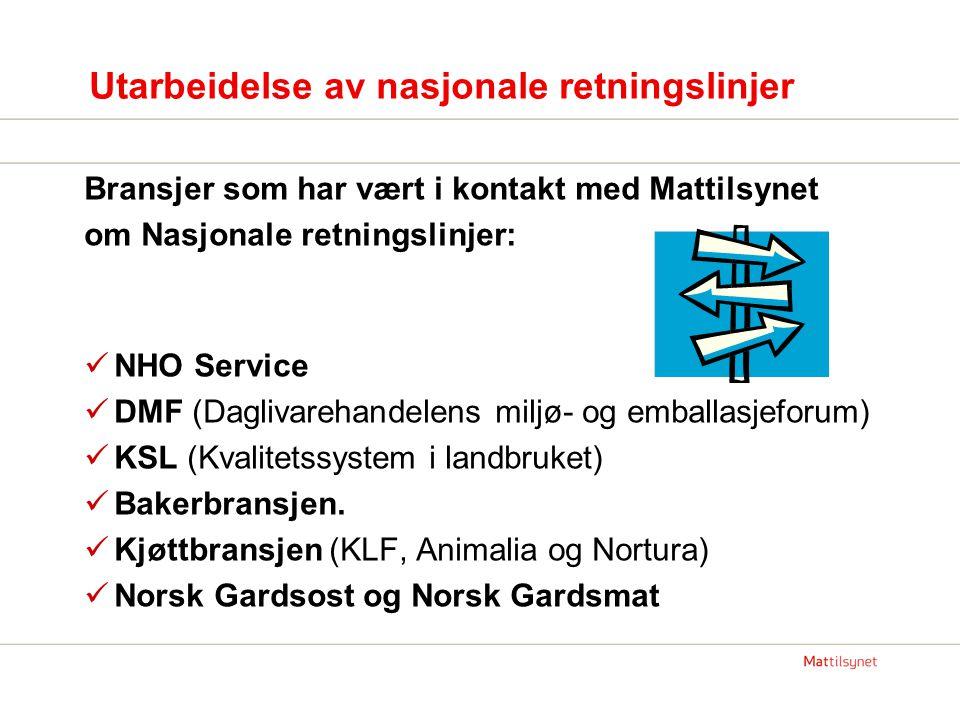Utarbeidelse av nasjonale retningslinjer