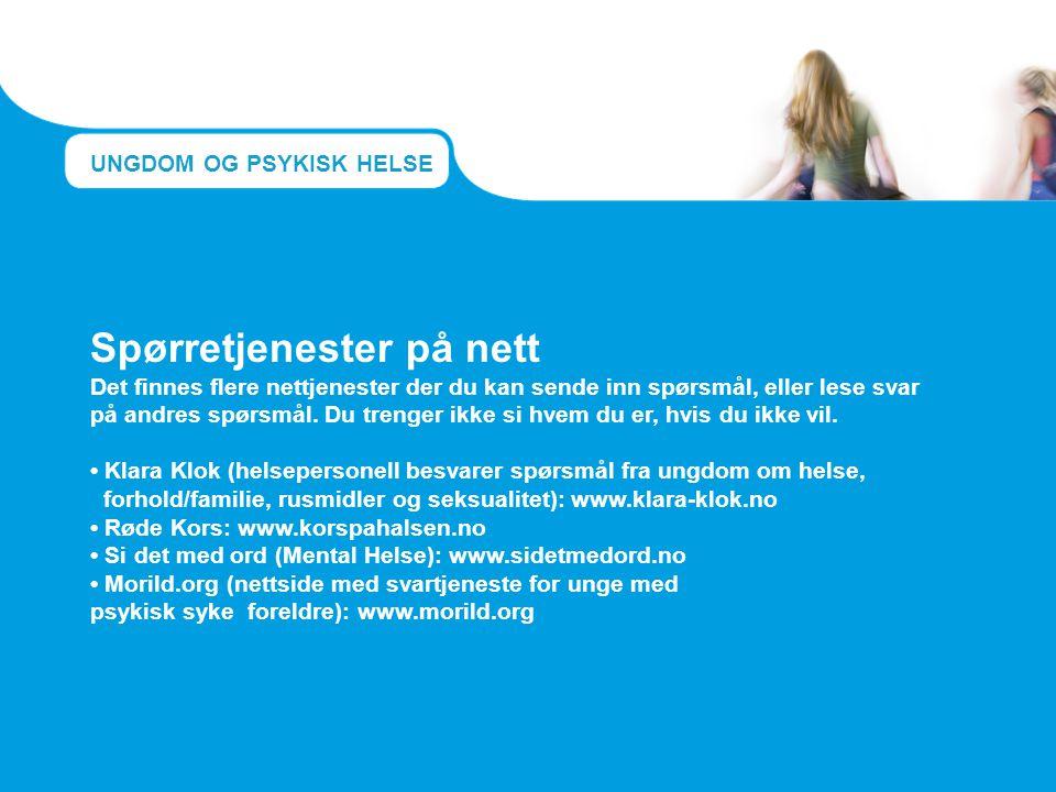 psykisk syke foreldre): www.morild.org