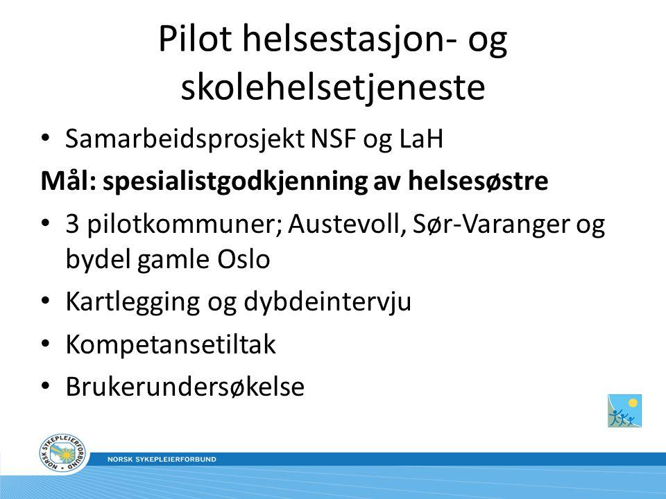 Pilot helsestasjon- og skolehelsetjeneste