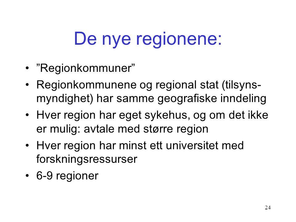 De nye regionene: Regionkommuner