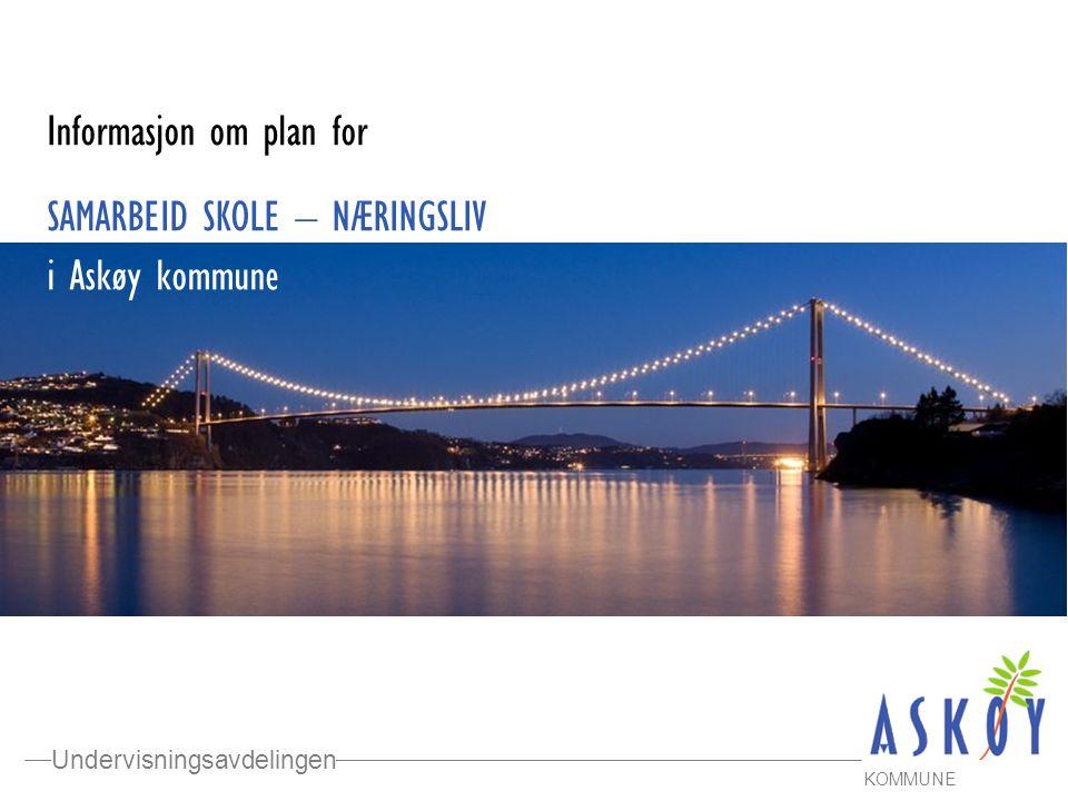 Informasjon om plan for SAMARBEID SKOLE – NÆRINGSLIV i Askøy kommune