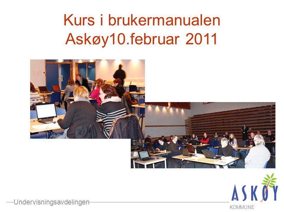 Kurs i brukermanualen Askøy10.februar 2011