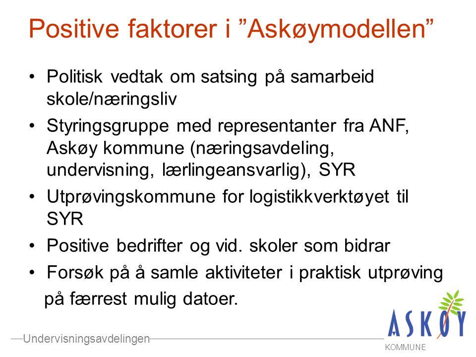 Positive faktorer i Askøymodellen
