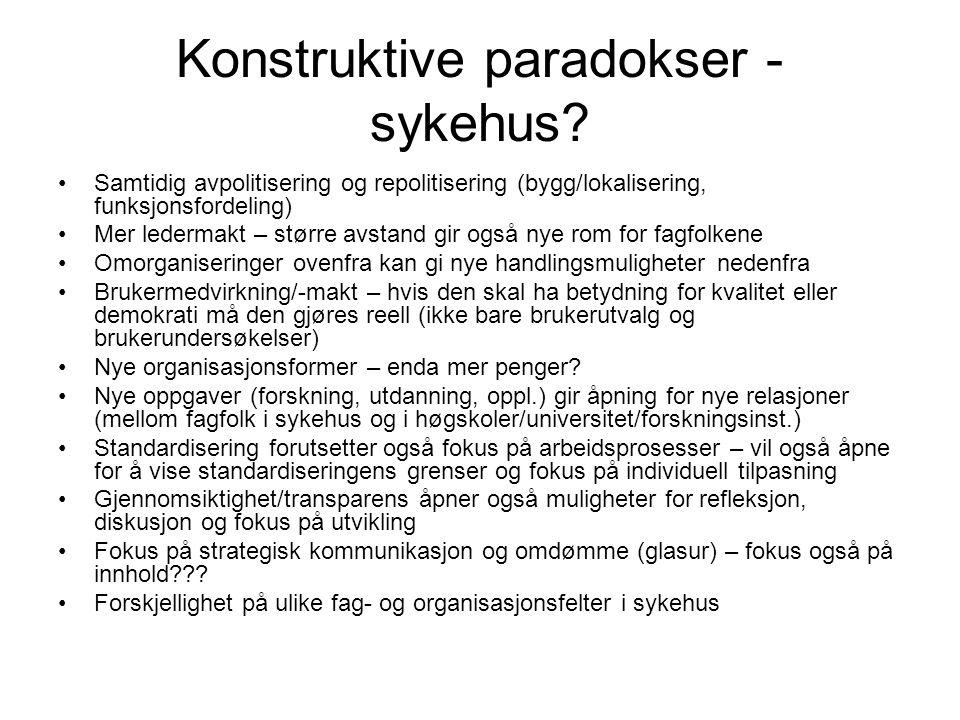 Konstruktive paradokser - sykehus