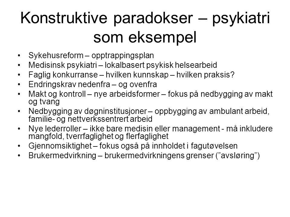 Konstruktive paradokser – psykiatri som eksempel