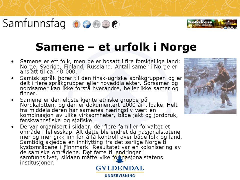Samene – et urfolk i Norge
