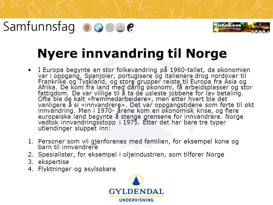 Nyere innvandring til Norge