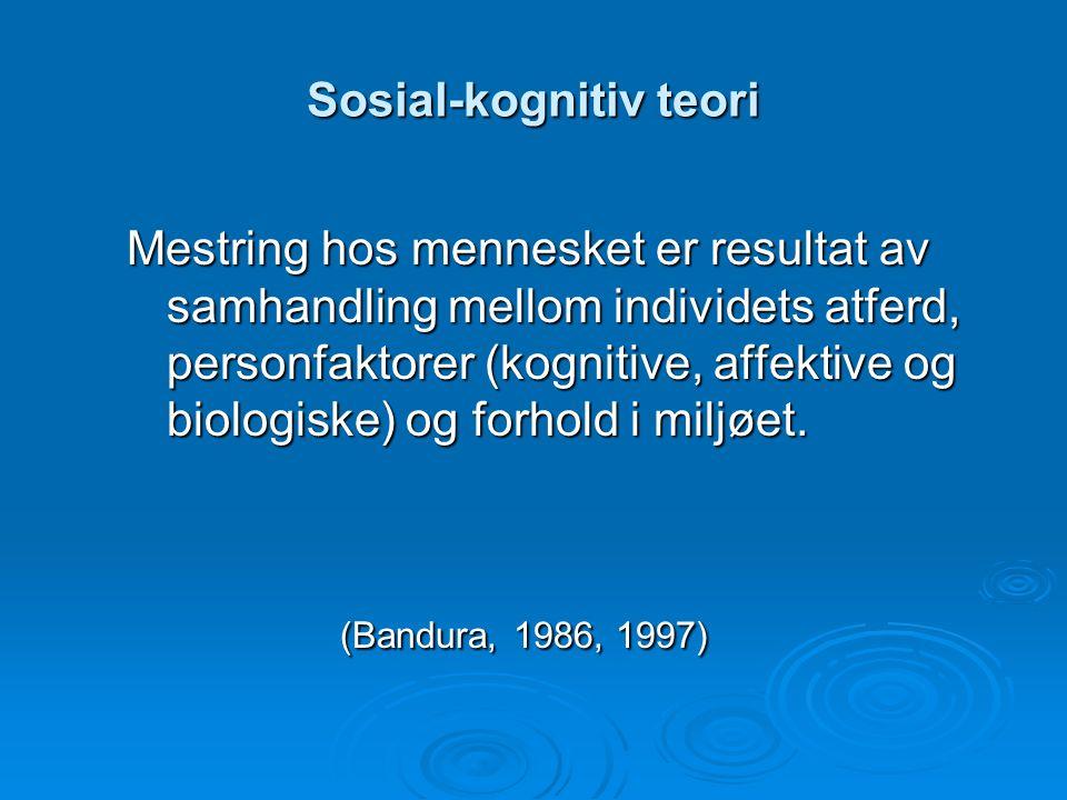 Sosial-kognitiv teori
