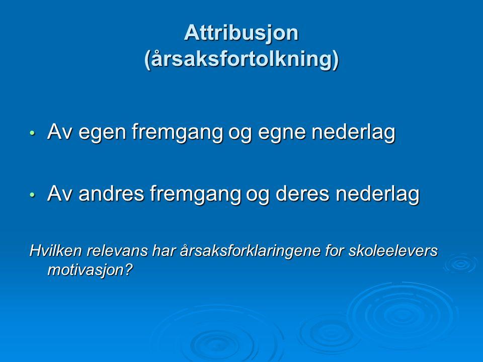 Attribusjon (årsaksfortolkning)