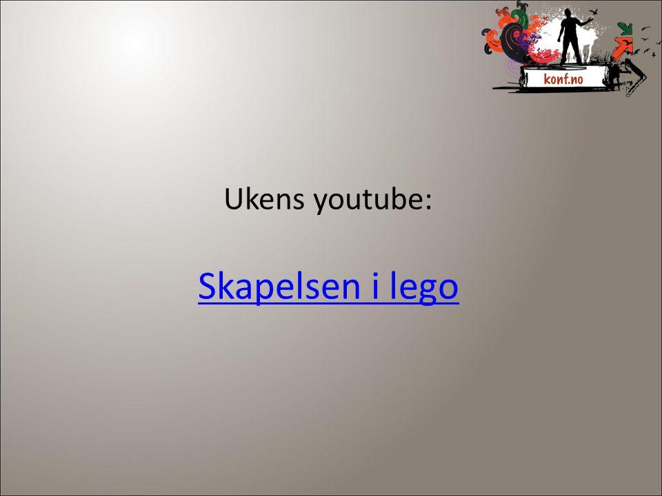 Ukens youtube: Skapelsen i lego 3