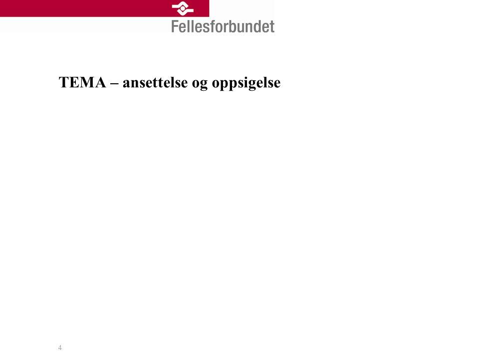TEMA – ansettelse og oppsigelse