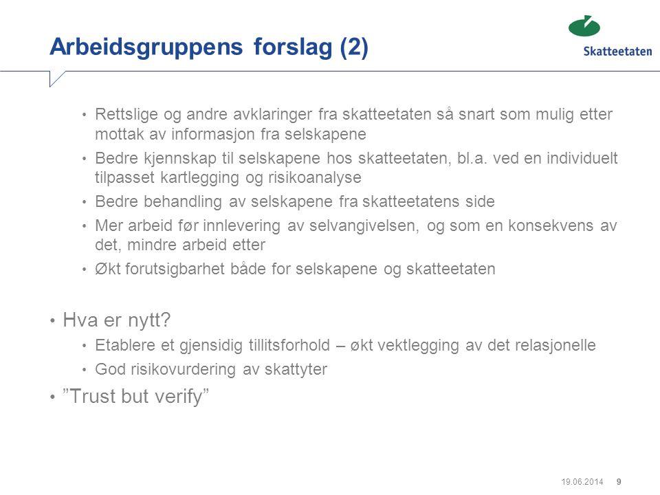 Arbeidsgruppens forslag (2)