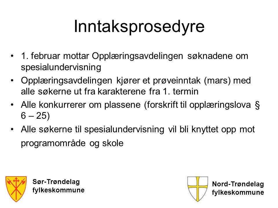 Inntaksprosedyre 1. februar mottar Opplæringsavdelingen søknadene om spesialundervisning.