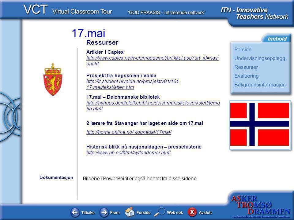 Ressurser Artikler i Caplex http://www.caplex.net/web/magasinet/artikkel.asp art_id=nasjonald. Prosjekt fra høgskolen i Volda.