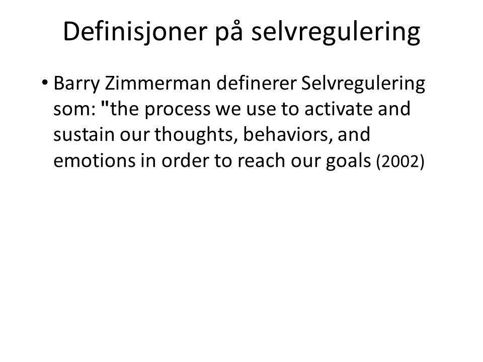 Definisjoner på selvregulering
