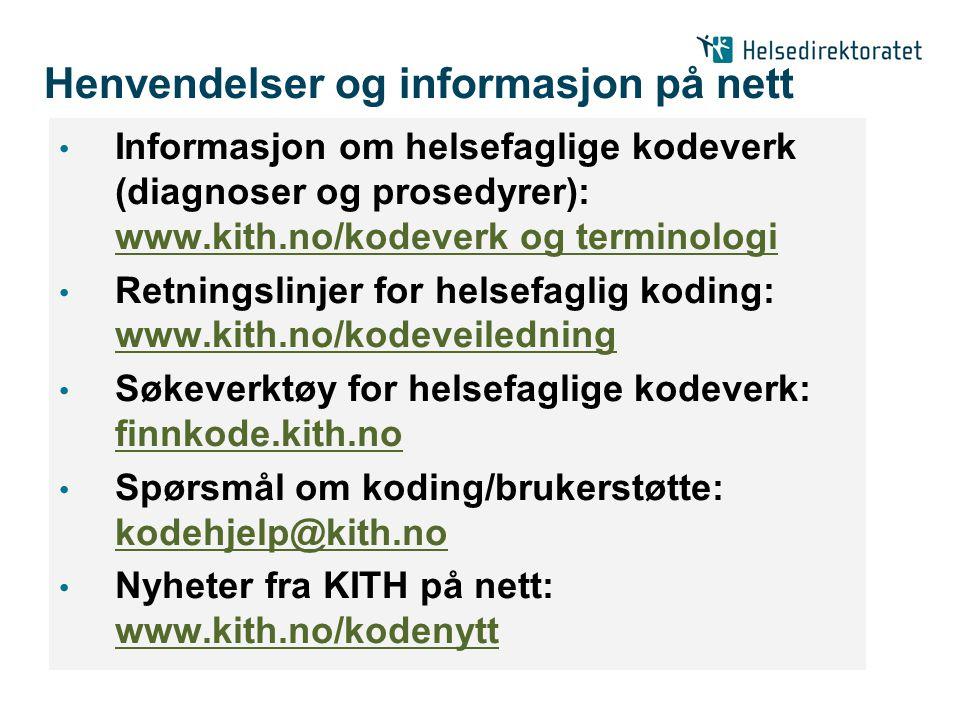 Henvendelser og informasjon på nett