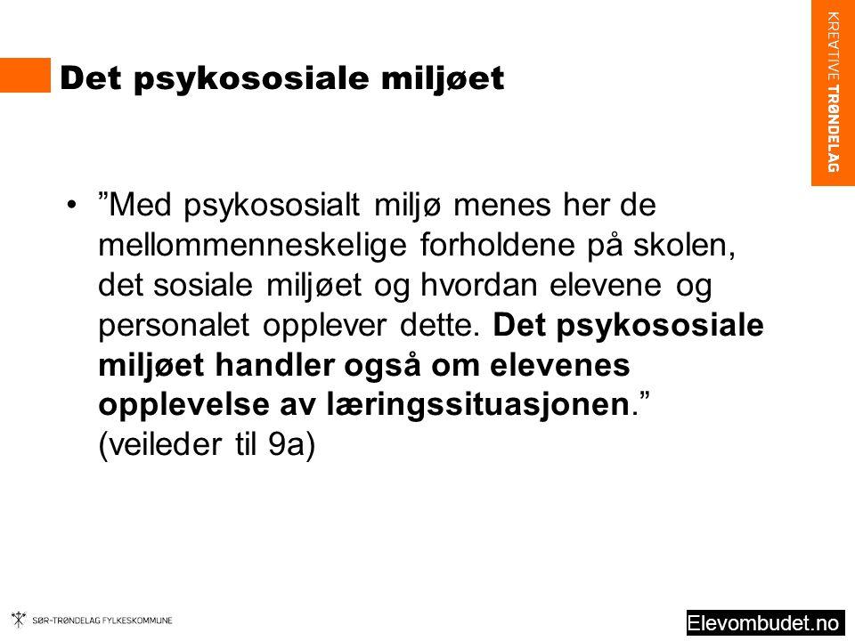 Det psykososiale miljøet