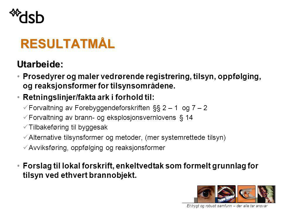 RESULTATMÅL Utarbeide: