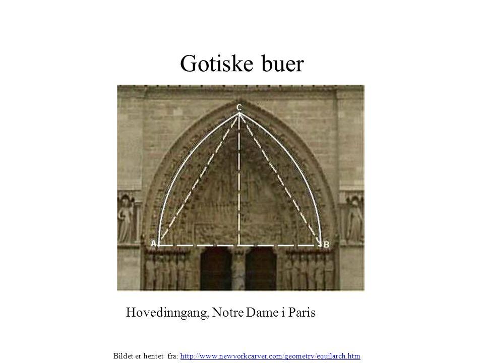 Gotiske buer Hovedinngang, Notre Dame i Paris