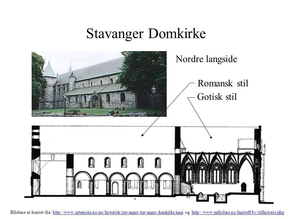 Stavanger Domkirke Nordre langside Romansk stil Gotisk stil