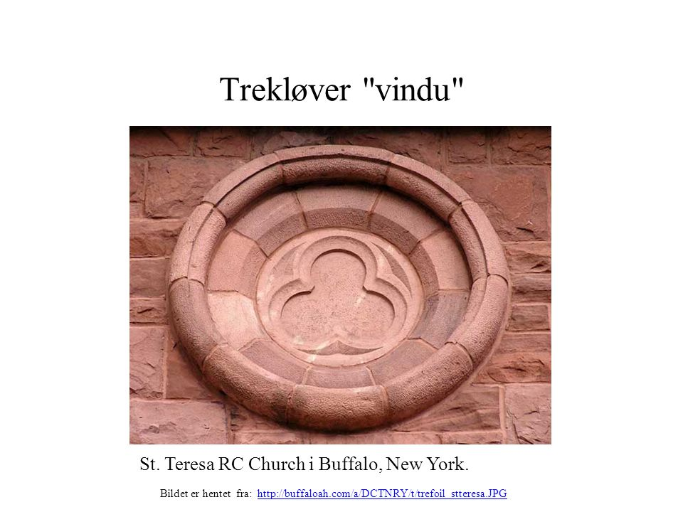 Trekløver vindu St. Teresa RC Church i Buffalo, New York.