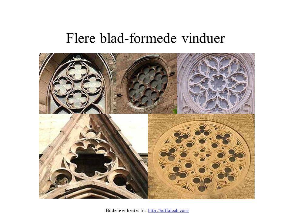 Flere blad-formede vinduer