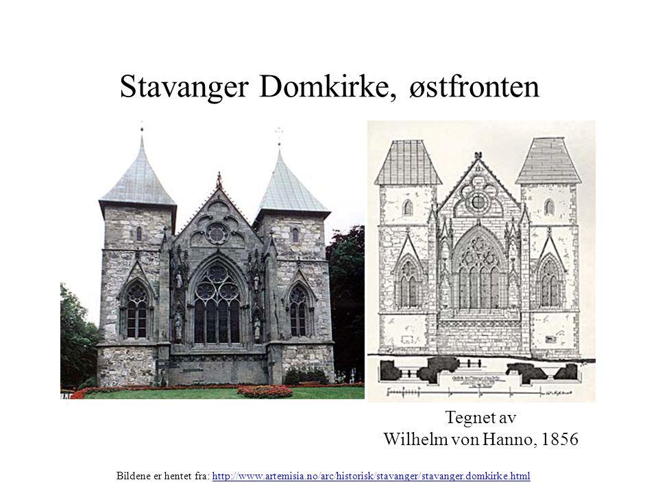 Stavanger Domkirke, østfronten