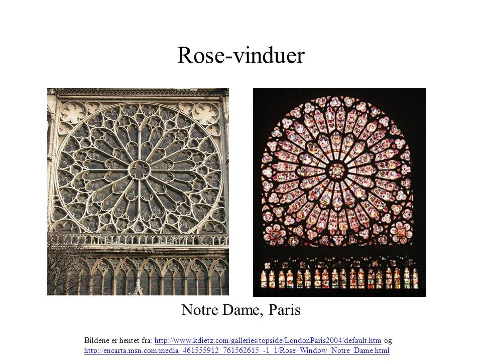 Rose-vinduer Notre Dame, Paris