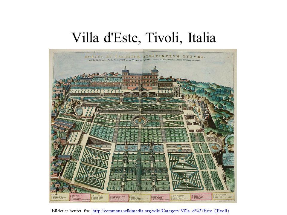Villa d Este, Tivoli, Italia