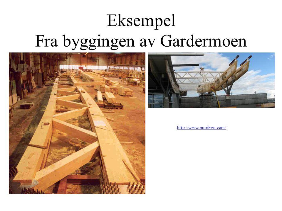 Eksempel Fra byggingen av Gardermoen