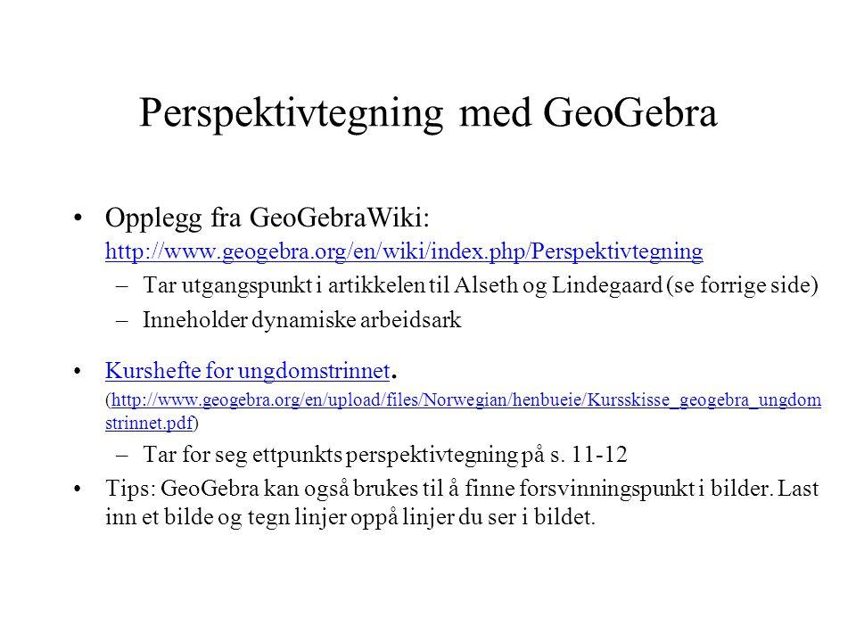 Perspektivtegning med GeoGebra