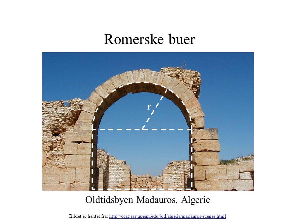 Romerske buer r Oldtidsbyen Madauros, Algerie