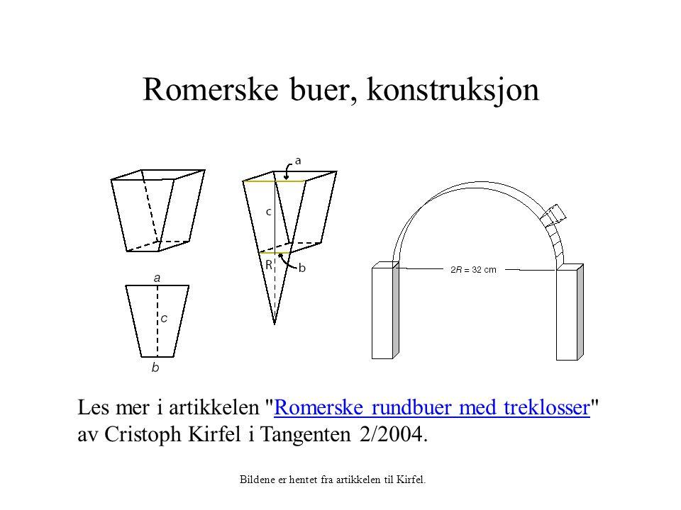 Romerske buer, konstruksjon