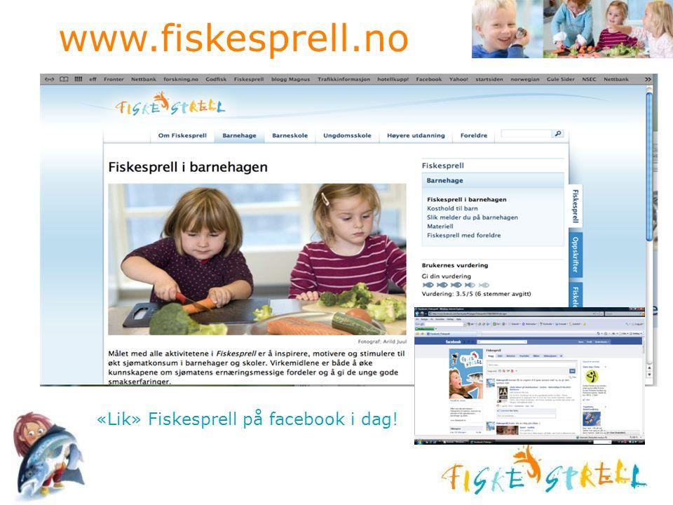 www.fiskesprell.no «Lik» Fiskesprell på facebook i dag!