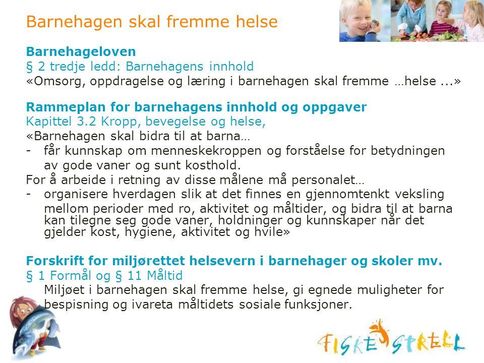 Barnehagen skal fremme helse