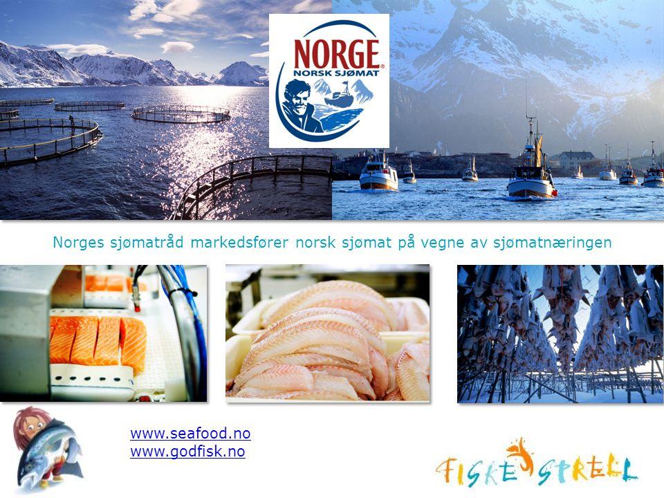Norges sjømatråd markedsfører norsk sjømat på vegne av sjømatnæringen