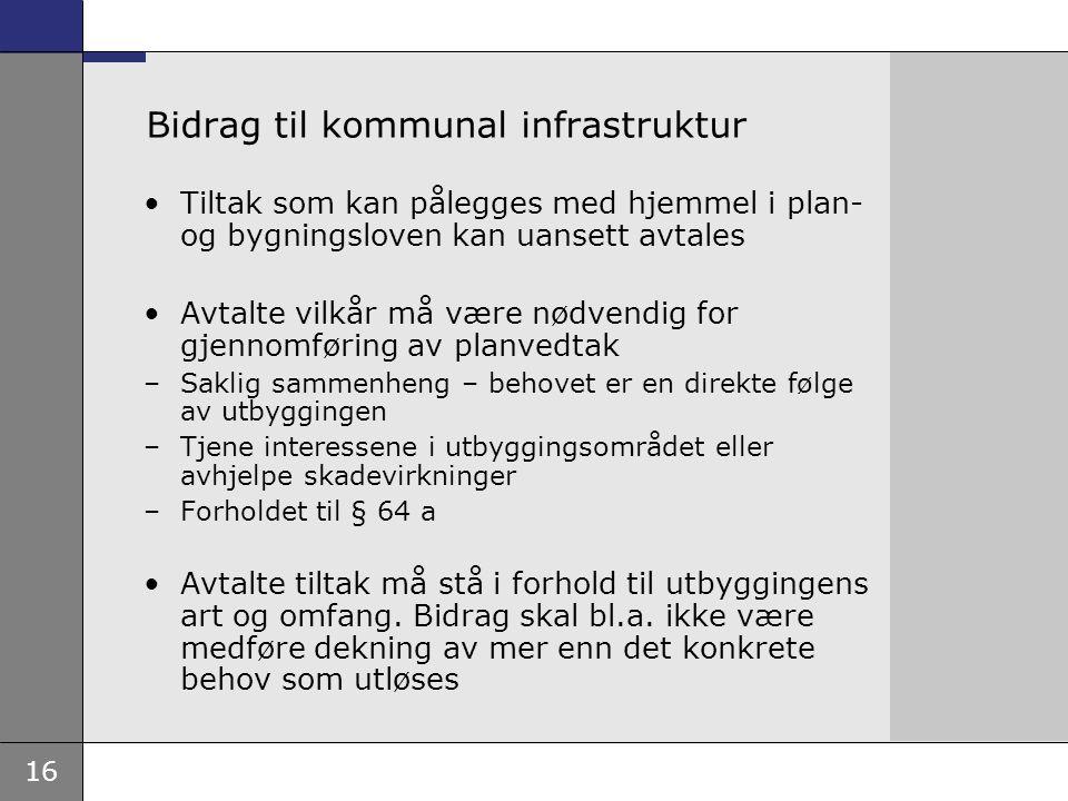 Bidrag til kommunal infrastruktur