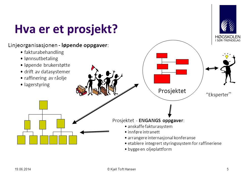 Hva er et prosjekt Prosjektet Linjeorganisasjonen - løpende oppgaver: