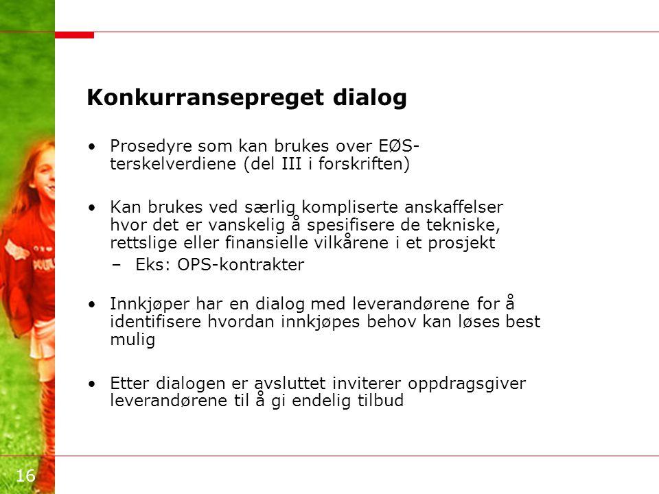 Konkurransepreget dialog