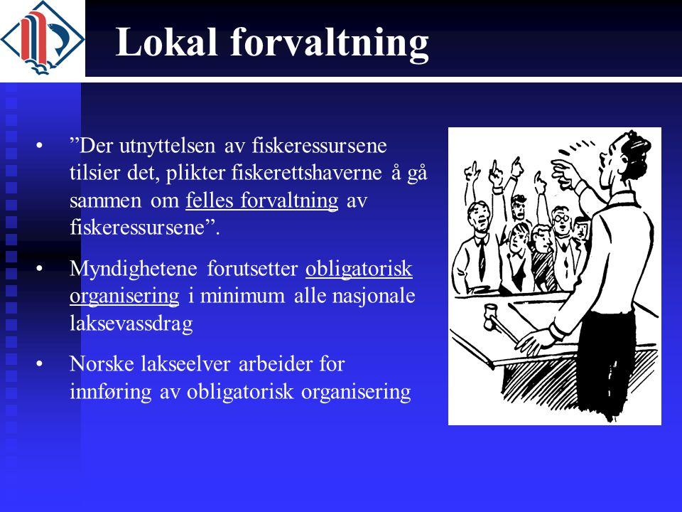 Lokal forvaltning Der utnyttelsen av fiskeressursene tilsier det, plikter fiskerettshaverne å gå sammen om felles forvaltning av fiskeressursene .