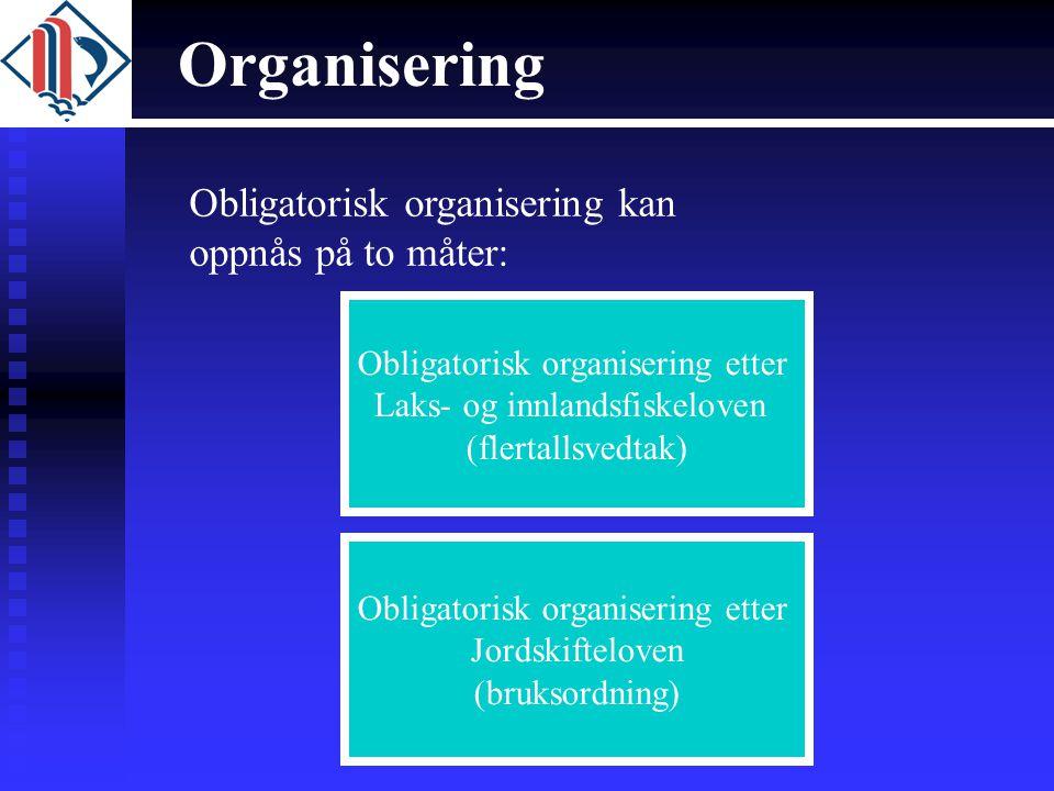 Organisering Obligatorisk organisering kan oppnås på to måter: