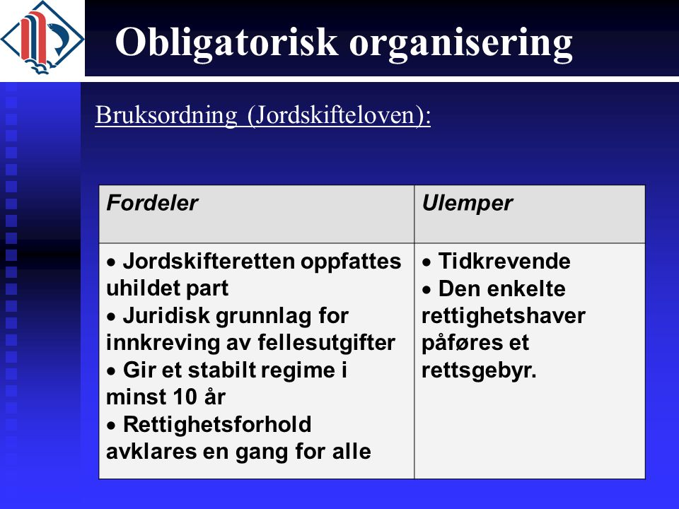 Obligatorisk organisering