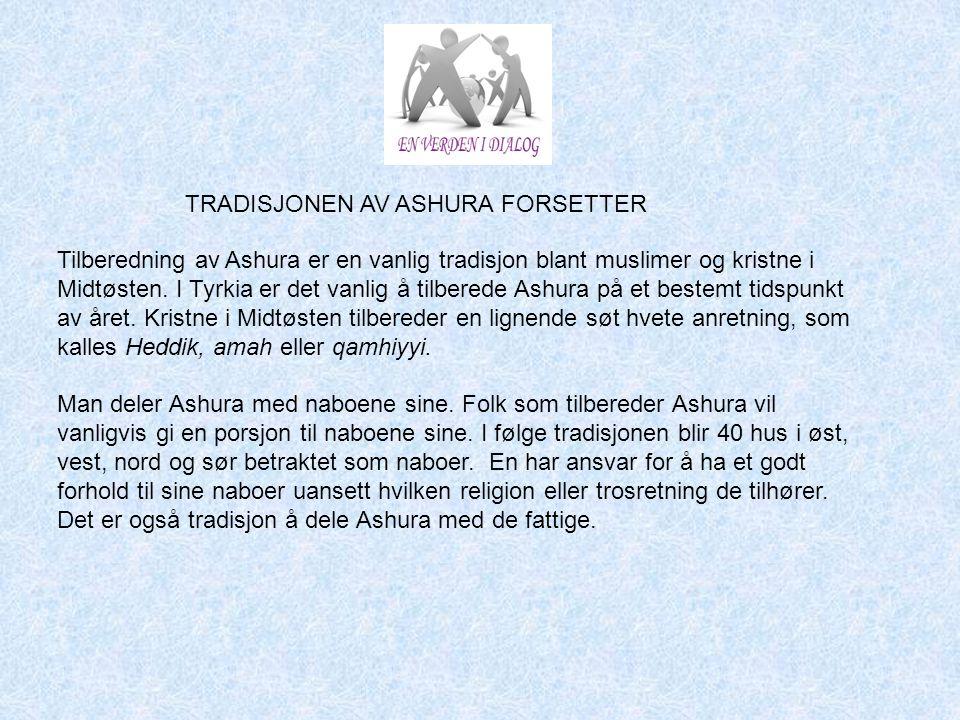TRADISJONEN AV ASHURA FORSETTER