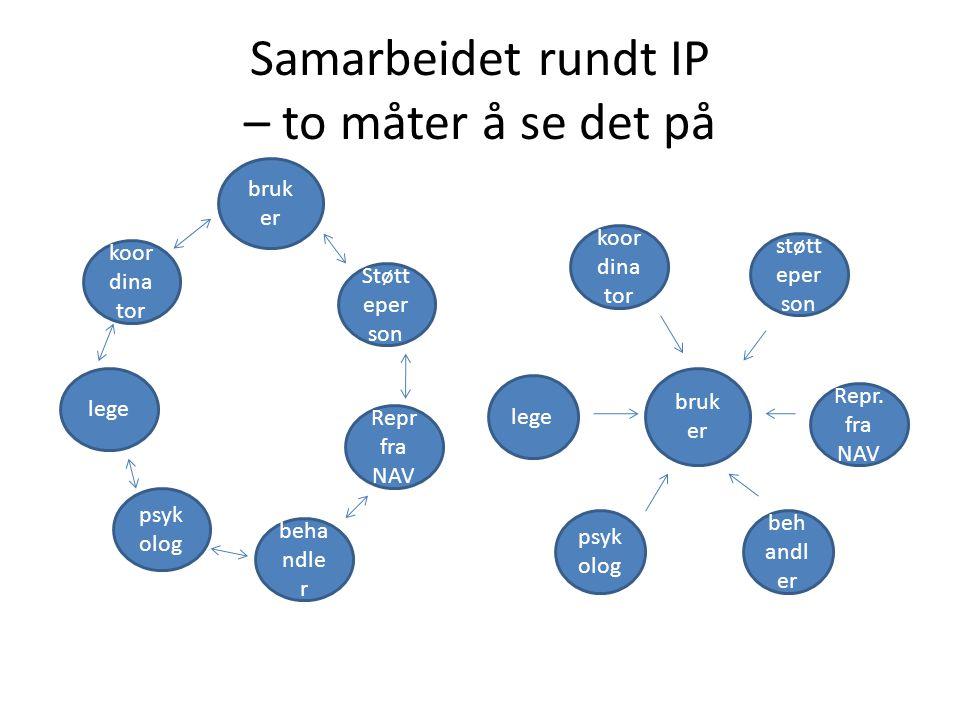Samarbeidet rundt IP – to måter å se det på