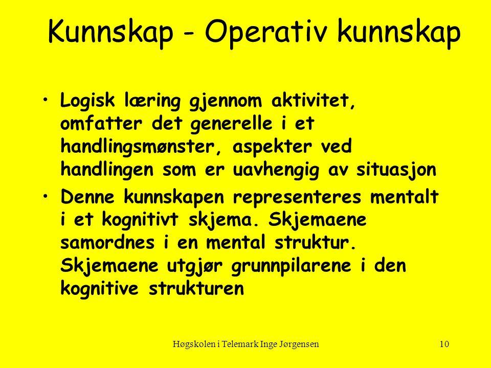 Kunnskap - Operativ kunnskap