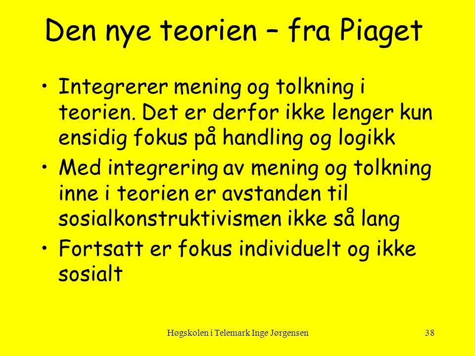 Den nye teorien – fra Piaget