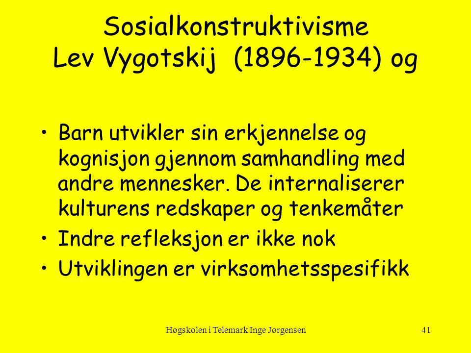 Sosialkonstruktivisme Lev Vygotskij (1896-1934) og