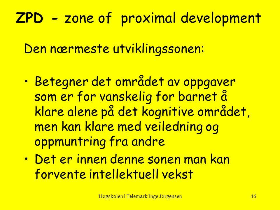ZPD - zone of proximal development