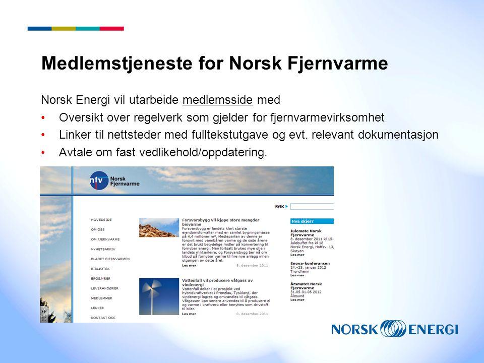 Medlemstjeneste for Norsk Fjernvarme