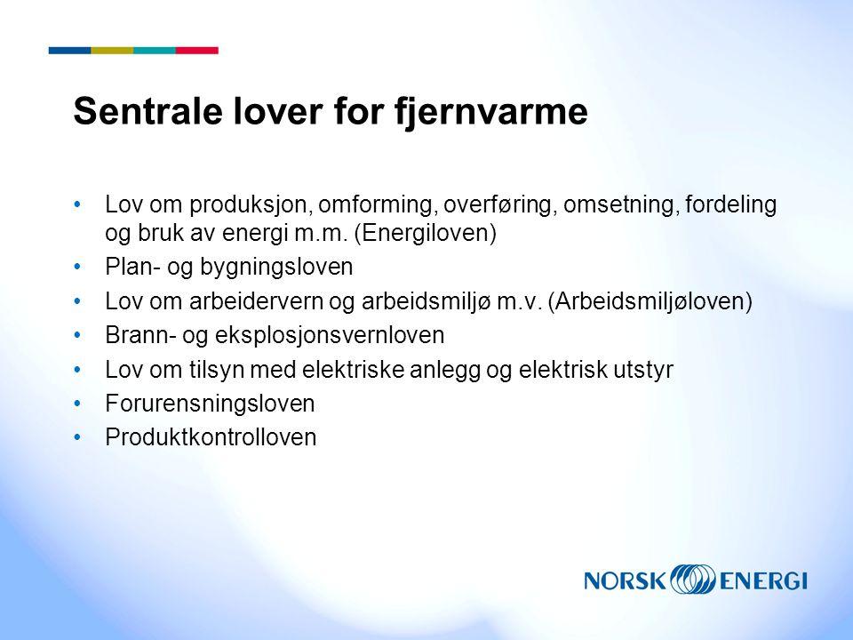 Sentrale lover for fjernvarme